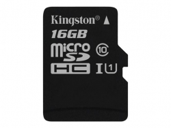 Atm.kort.microSD Kingston 16GB Class 10