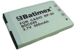 Bat.Batimex BDC040 Casio NP-20 500mAh 3.