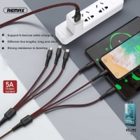 Kab.RMX RC-153 Share 6-in-1 Lightning/Micro/Type-C 1m+2m