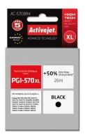 Raš.  Activejet AC-570BRX (Canon PGI-570XL; 26 ml; Juodas)