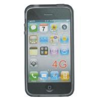 Dėkl.iPhone 4 skaidrus pilkas, TPU, bulk