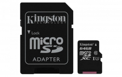 Atm. kort. KINGSTON 64GB microSDXC CL10