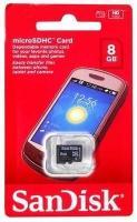 Atm.kort.Sandisk microSD 8GB Class 4