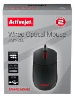 Kompiuterinė pelė Activejet AMY-260 (Optical; 3200 DPI; graphite black color